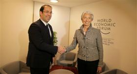 Youssef Chahed et Christine Lagarde (Photo d'archives)