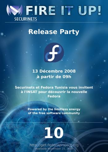 Fedora 10 release party in tunisia