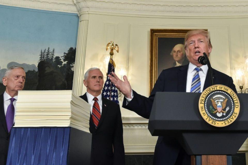 Trump évoque des mesures sur
